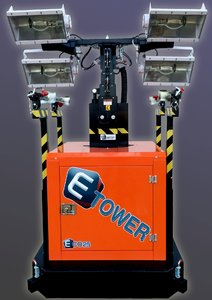 Skid Light Tower: Orange [ECO-25]